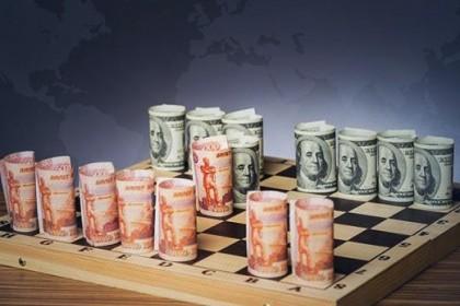 Российский рубль против доллара сша торгуется вблизи максимальных значений
